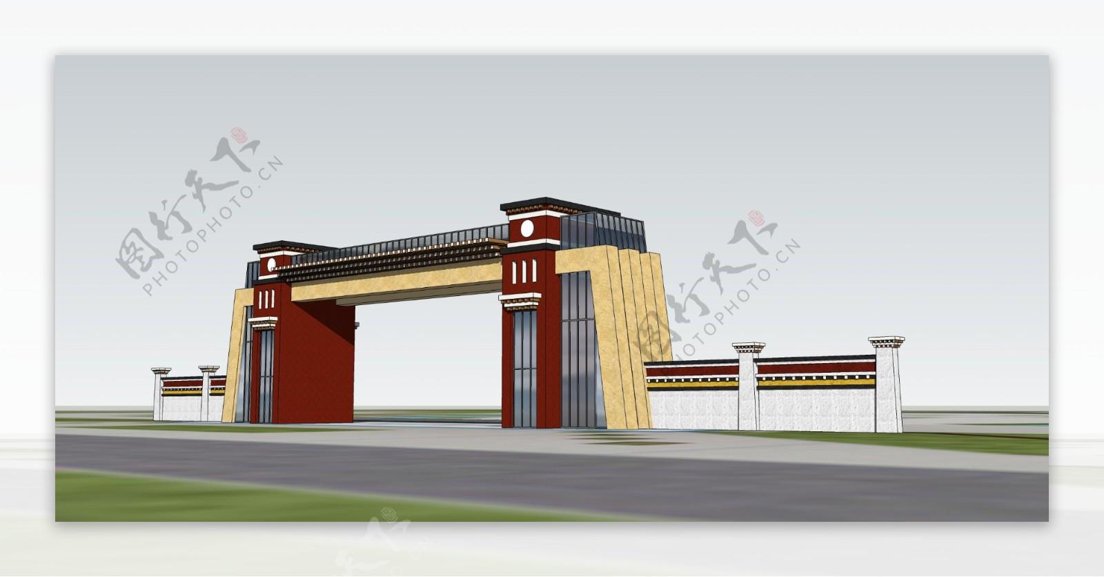 藏式大门设计图片